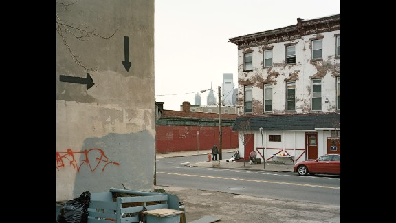 A corner of Ridge Avenue, near Francis Street, in 2008. Traub explored the area from 2008 to 2013, returning to a place he had visited with his mother as a child.