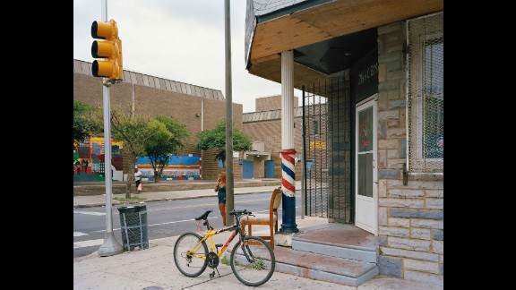 The corner of Cecil B. Moore Avenue and North 22nd Street, in 2008.