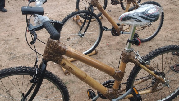 """<a href=""""http://edition.cnn.com/2015/01/20/africa/booomers-bamboo-bicycles-ghana/index.html"""" target=""""_blank"""">Bamboo bicycles</a> are becoming all the rage in Ghana and Boomers International is joining the action with their social enterprise initiative to create bespoke bikes whilst reducing youth unemployment."""