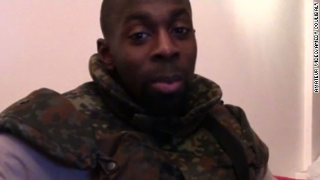 Amedy Coulibaly from another video that circulated on jihadist websites earlier this month.