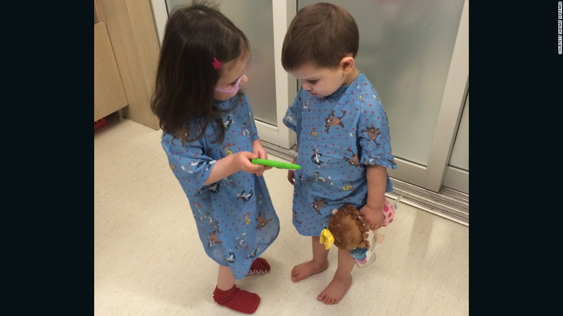The duo were nearly inseparable during their hospital stay.