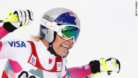Lindsey Vonn equaled the 35-year, 62 win World Cup record Sunday.