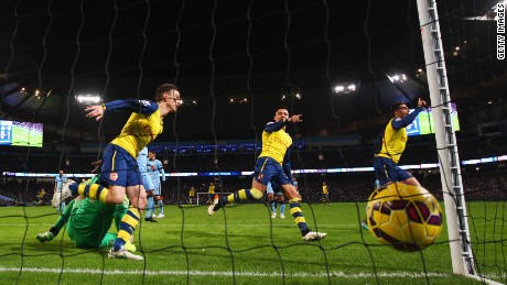 Arsenal out scored and out fought an uncharacteristically poor Manchester City side.