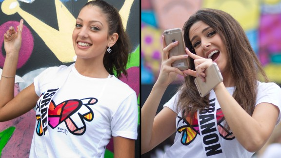 An image posted on social media showing Miss Lebanon Saly Greige, right, and Miss Israel Doron Matalon together ignited an online uproar. The picture appeared on Matalon