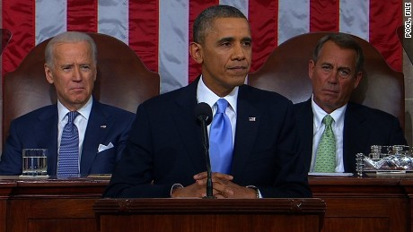 President Barack Obama delivers the 2014 State of the Union Tuesday, January 28, 2014. Credit: 	POOL
