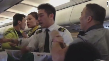 Images of midair disputes between airline passengers and cabin crew abound on Chinese social media.