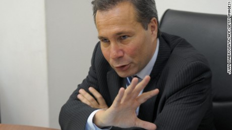 Caption:Argentina's Public Prosecutor Alberto Nisman gives a news conference in Buenos Aires on May 20, 2009. The Public Prosecutor's office on Wednesday released the portrait of Colombian national Samuel Salman El Reda, accused of being one of the leaders of local connection that carried out the terrorist attack against Jewish-Argentine organization AMIA on July 18, 1994, killing 85 people and wounding another 300. AFP PHOTO/JUAN MABROMATA (Photo credit should read JUAN MABROMATA/AFP/Getty Images)
