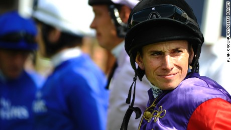 Ryan Moore poses at Goodwood racecourse on July 31, 2014 in Chichester, England. (Photo by Alan Crowhurst/Getty Images)