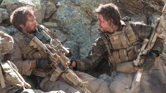"Peter Berg's ""Lone Survivor"" starred Mark Wahlberg, right, as real-life Navy SEAL Marcus Luttrell, who was rescued from Taliban fighters in Afghanistan. The 2013 movie grossed $125 million."