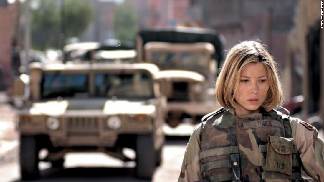 "Jessica Biel co-starred in ""Home of the Brave,"" a little-seen 2006 drama about Army National Guard soldiers adjusting to life back home after serving in Iraq."