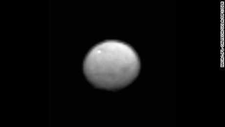 A new image shows the dwarf planet Ceres as seen from the Dawn spacecraft.