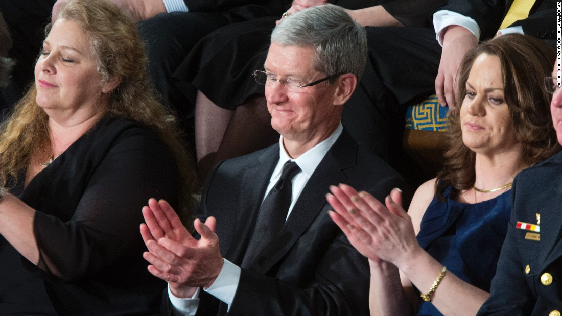 Apple CEO Tim Cook was a special guest at Obama's State of the Union address in 2013.