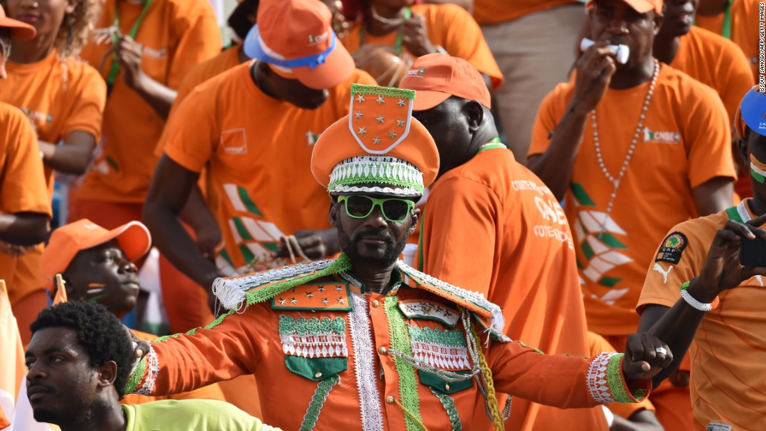 Ivory Coast supporters added more color off the pitch than their team did on it. A team that includes Manchester City's Yaya Toure produced a lackluster performance against Guinea.