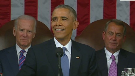Obama pokes fun at GOP during State of the Union speech
