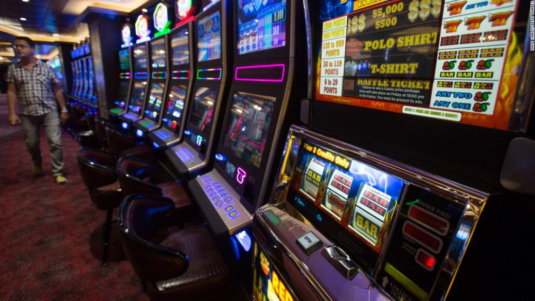 For those passengers looking to win back their money from the cost of the trip, there is no shortage of gaming machines.