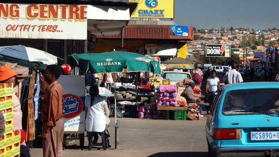 Union Avenue in the Kliptown area of Soweto is another bustling shopping street.