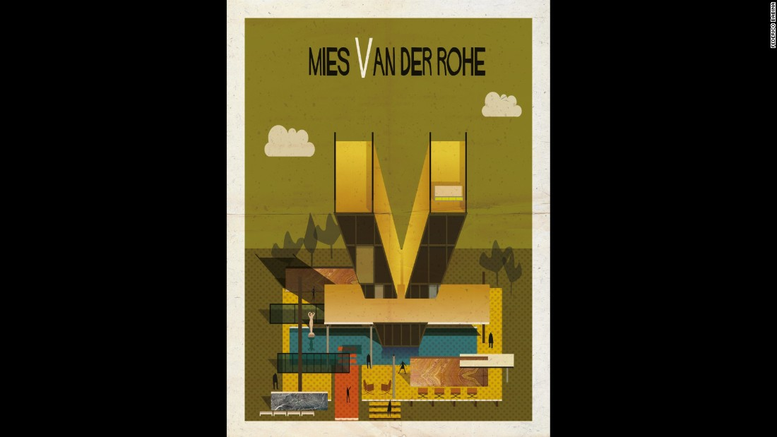 "<strong><br />1886-1969</strong><br /><strong>German-American</strong><br /><br />Van der Rohe's influence can be seen in every modern building that reveals the industrial materials used in its construction.<br /><br />Like his International School contemporaries, Van der Rohe's designs expressed paramount simplicity and a tendency to minimalism -- ""skin and bones architecture,"" he called it. His single story Farnsworth House, built as a retreat for a physician friend, contains just a single room, edged with glass. <br /><br />He believed buildings should express the age in which they are built, and his stand as monuments to the industrial spirit of the 20th century.<br /><br />His first tall building, New York's Seagram Building, banished exterior brick and stonework in favor of a clean glass and steel skin -- creating a blueprint for the 20th century skyscraper.<br /><br /><strong>Quote: </strong>""Less is more""<br /><strong>Iconic building:<a href=""http://www.archdaily.com/109135/ad-classics-barcelona-pavilion-mies-van-der-rohe/"" target=""_blank""></strong> Barcelona Pavilion, Spain</a>"