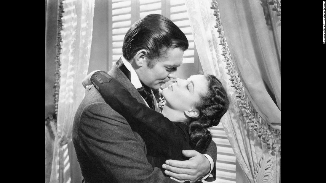 "The smoldering embraces of Clark Gable as Rhett Butler and Vivien Leigh as Scarlett O'Hara in ""Gone with the Wind"" are enough to burn down Tara several times over."