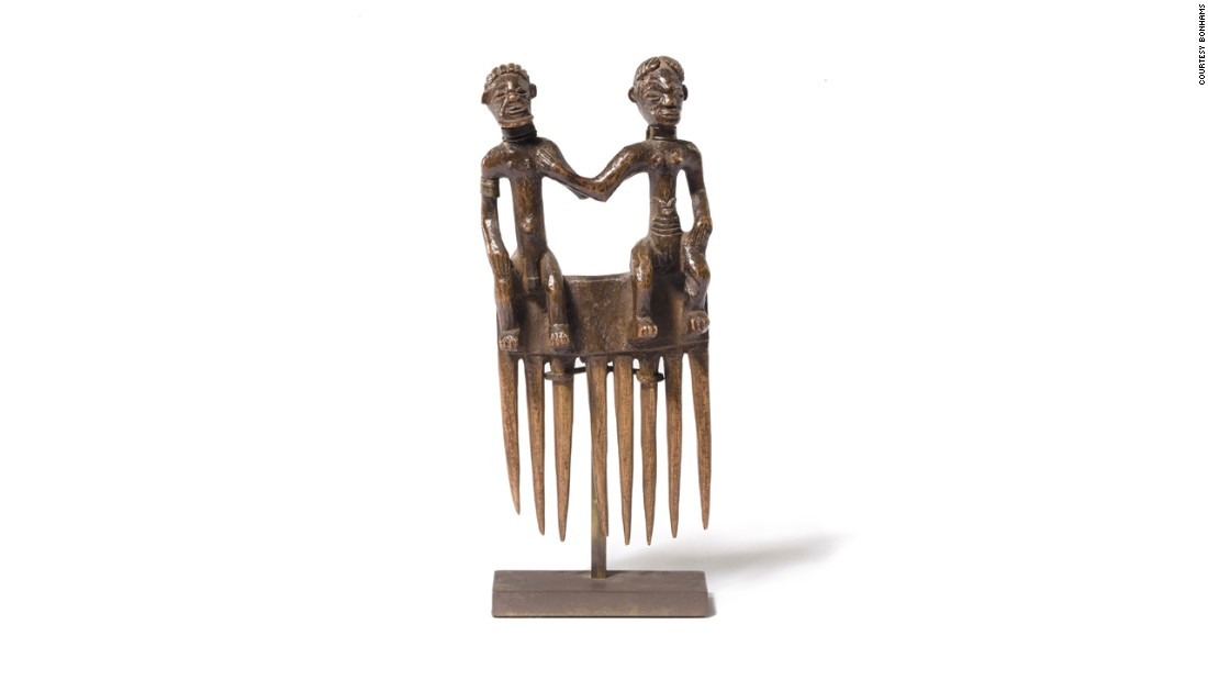 The collection also features a number of tribal pieces. This piece in particular was previously auctioned at Sotheby's in New York in 1984.