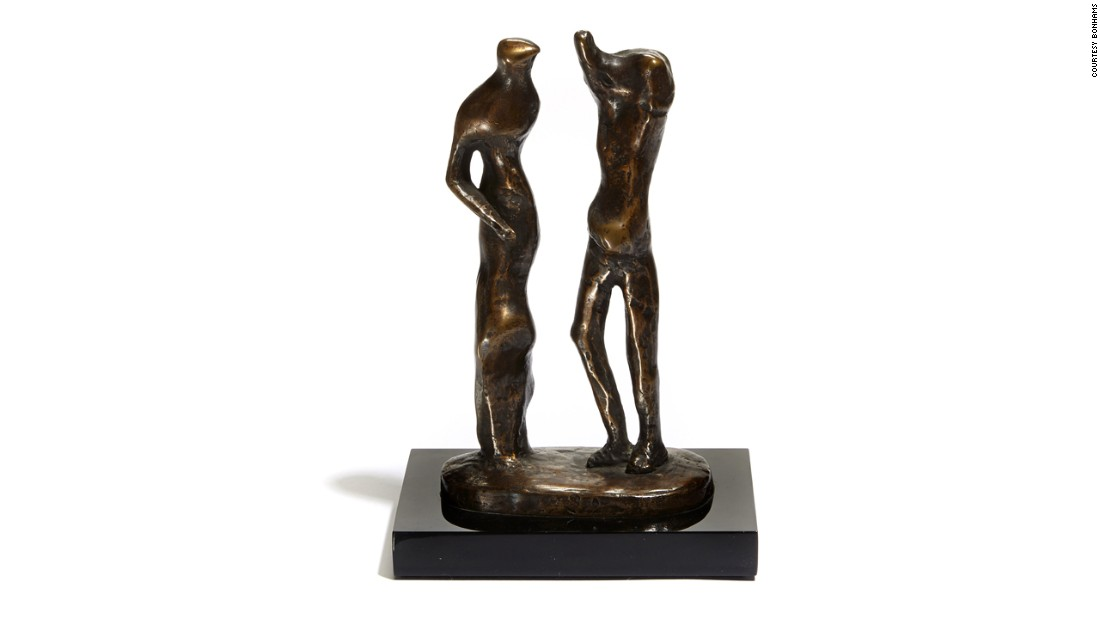 Highlights of the collection include six bronze maquettes by one of the greatest artists of the 20th century, British sculptor Henry Moore. Estimated at $60,000, it is one of the most expensive items in the collection.