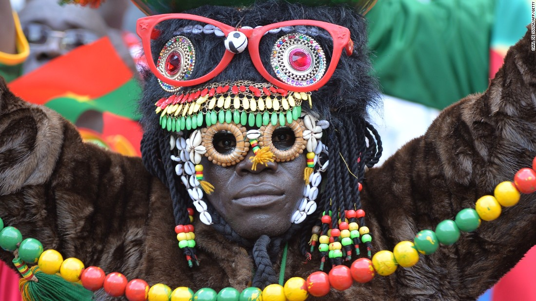 A Burkina Faso fan watches on as his side fought to a goalless draw in an Africa Cup of Nations Group A match against hosts Equatorial Guinea.
