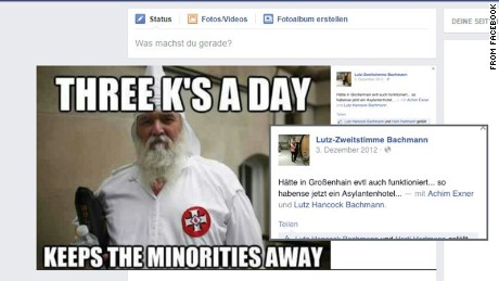 Bachmann also posted a photo of a Ku Klux Klansman.