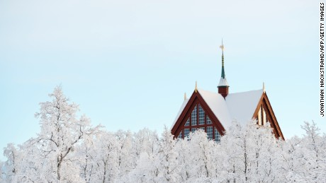 This snow-capped church in the northern Swedish city of Kiruna will be dismantled and rebuilt in a new location.