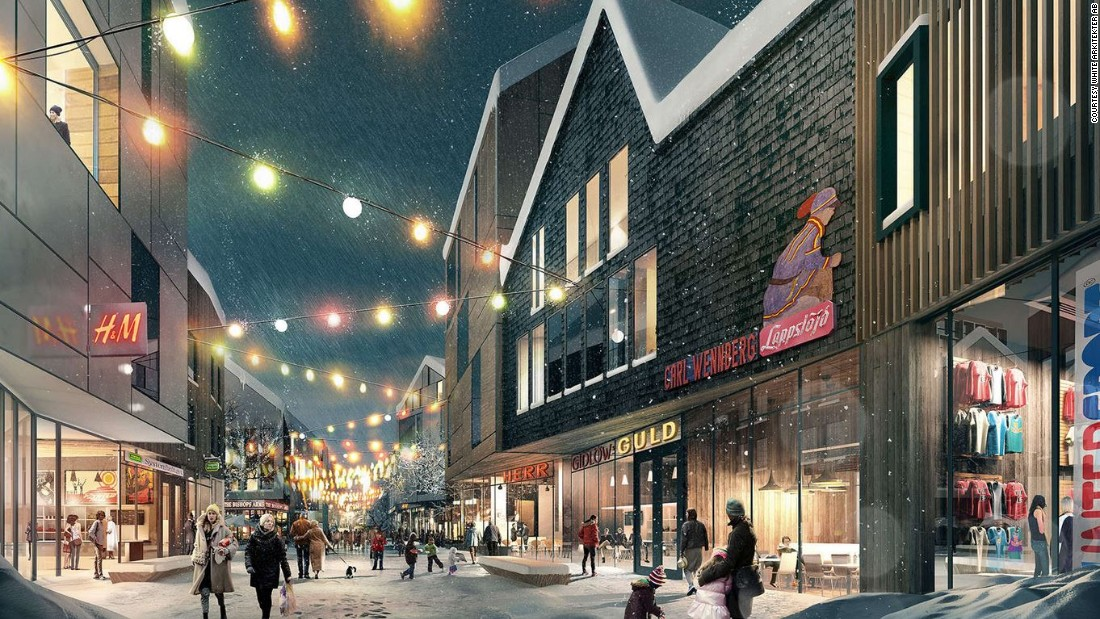 The new Kiruna will contain more social spaces, cafes and more scope for cultural activities.