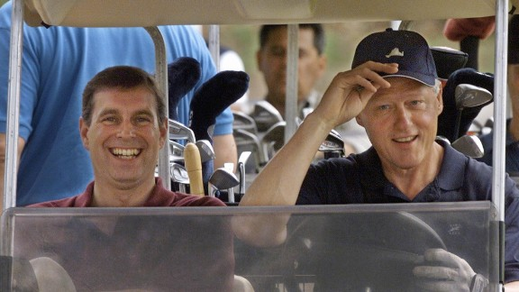 Prince Andrew, pictured with President Bill Clinton at Martha