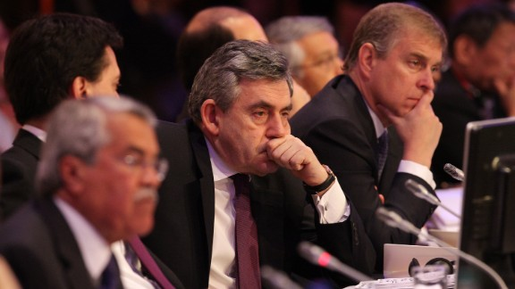 """In 2008, Prince Andrew -- pictured here with the then British Prime Minister Gordon Brown (C) told the International Herald Tribune newspaper that the U.S. could have avoided post-invasion chaos in Iraq had it learned from the British. """"The fact is there is quite a lot of experience over here which is valid and should be listened to,"""" it quoted him as saying."""
