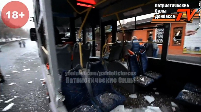 Ukrainian FM: 'Terrorists' behind bus shelling