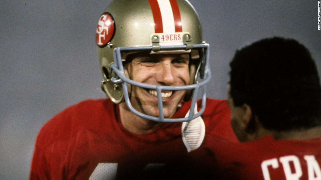 "Three years after winning his first Super Bowl MVP award, Joe Montana was at it again as he led the 49ers to a 38-16 victory over Miami. This time, ""Joe Cool"" threw for 331 yards and three touchdowns."