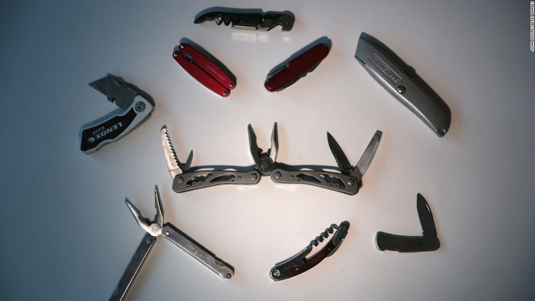 ... and a collection of pocket knives.