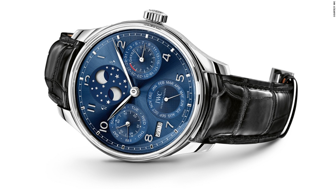 "<a href=""http://www.iwc.com/en-uk/"" target=""_blank"">IWC</a>'s Portugieser Perpetual Calendar with a double moon reflects with phase of the moon in both hemispheres. This year marks the 75th anniversary of the Portugieser watch family."