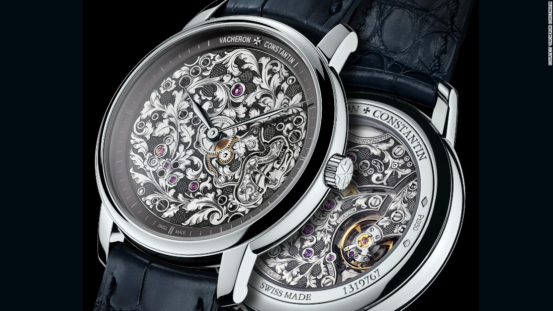 "<a href=""http://www.vacheron-constantin.com/"" target=""_blank"">Vacheron Constantin</a>'s two Métiers d'Art Mécaniques Gravées watches feature stunning hand-engraved movements. (A magnifying watch is delivered with each piece to help the owner appreciate the intricate floral motif.)"