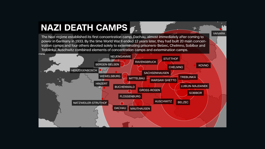 The holocaust concentration camps map