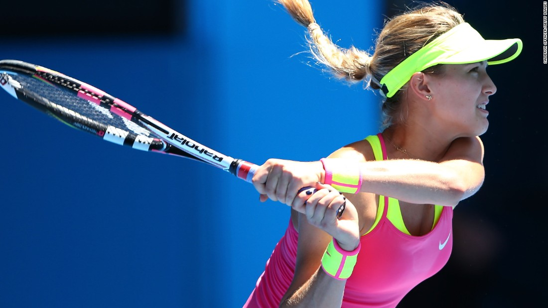 Eugenie Bouchard played talented Frenchwoman Caroline Garcia, but advanced in straight sets.
