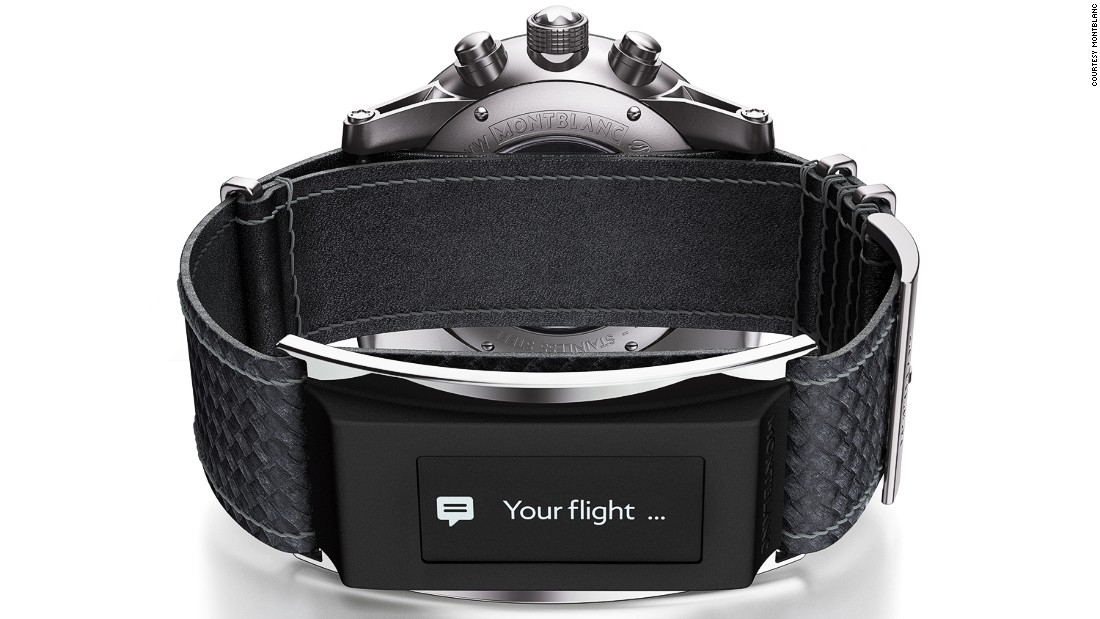 Although the showroom may have evinced the company's heritage, with the TimeWalker Urban Speed e-Strap, Montblanc is looking firmly to the future, bridging the worlds of traditional watchmaking and wearable technology. <br /><br />The interchangeable strap, which can be used with some Android phones and iOs devices, acts as an activity tracker, receives notifications, and can be used as a remote control.