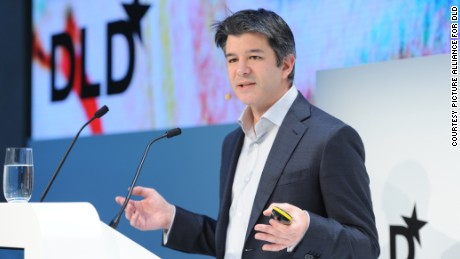 Uber CEO Travis Kalanick talks about the company's vision and next steps at the HVB Forum on January 18, at DLD.