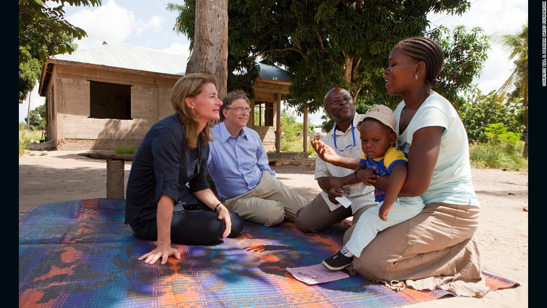Bill and Melinda Gates in Mapinga, Tanzania, in 2011.