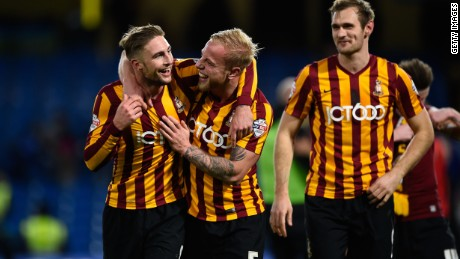 Bradford City knocked Chelsea out of the Fa Cup after winning 4-2.