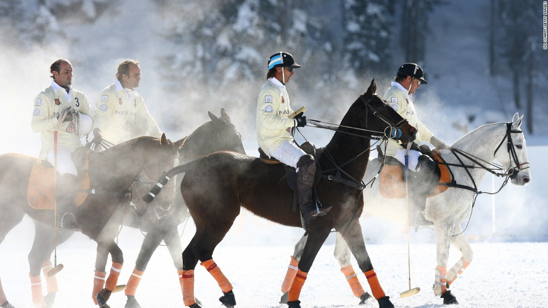 Players say St Moritz is the most prestigious tournament in snow polo, and crowds can reach 15,000.