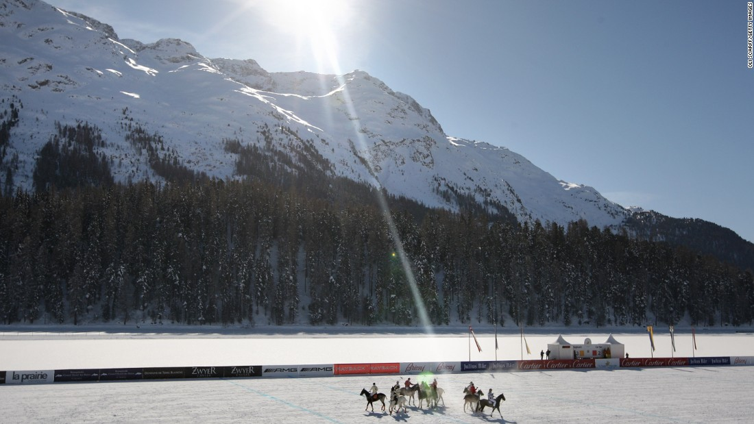 St Moritz organizers, however, maintain theirs is the original international snow polo event with the sport's greatest backdrop.