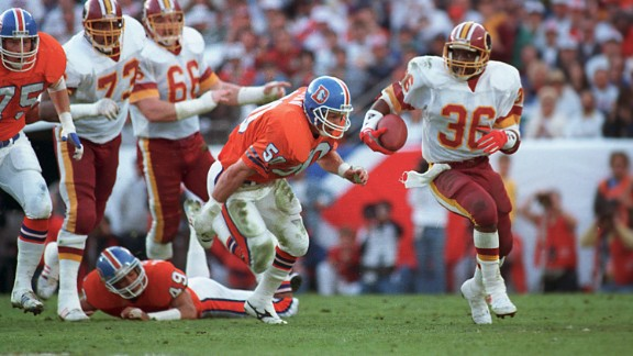 Most rushing yards in a Super Bowl: Washington quarterback Doug Williams won the Super Bowl MVP award in 1988, but rookie running back Timmy Smith set a Super Bowl record that year with 204 rushing yards against Denver.