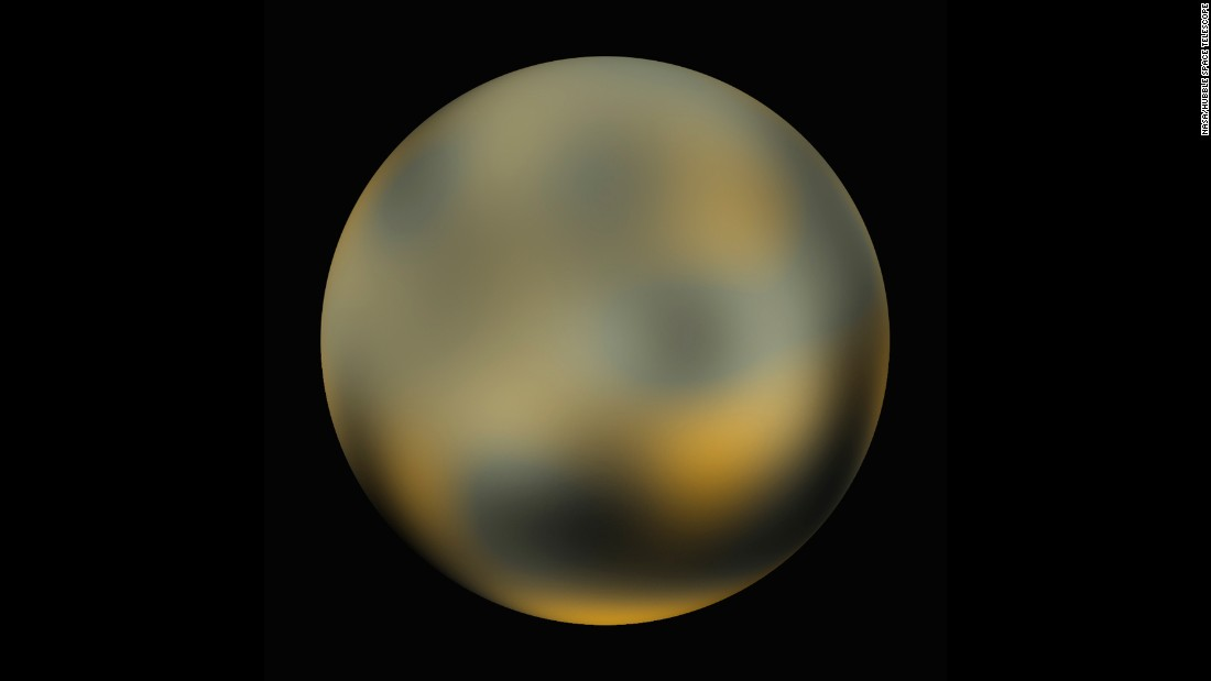 Pluto was discovered in 1930 but was only a speck of light in the best telescopes on Earth until February 2010, when NASA released this photo. It was created by combining several images taken by the Hubble Space Telescope -- each only a few pixels wide -- through a technique called dithering. NASA says it took four years and 20 computers operating continuously to create the image.