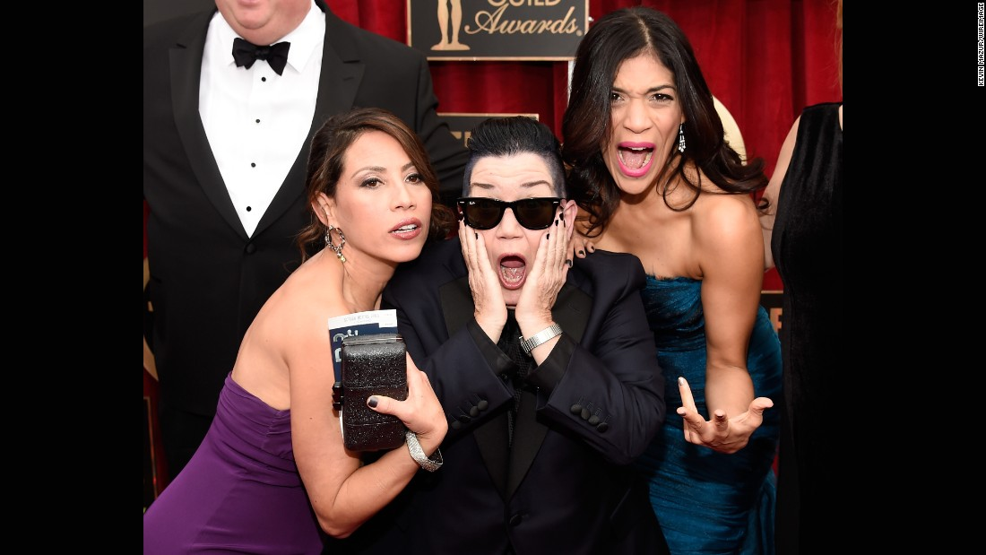 From left, Elizabeth Rodriguez, Lea DeLaria and Laura Gomez