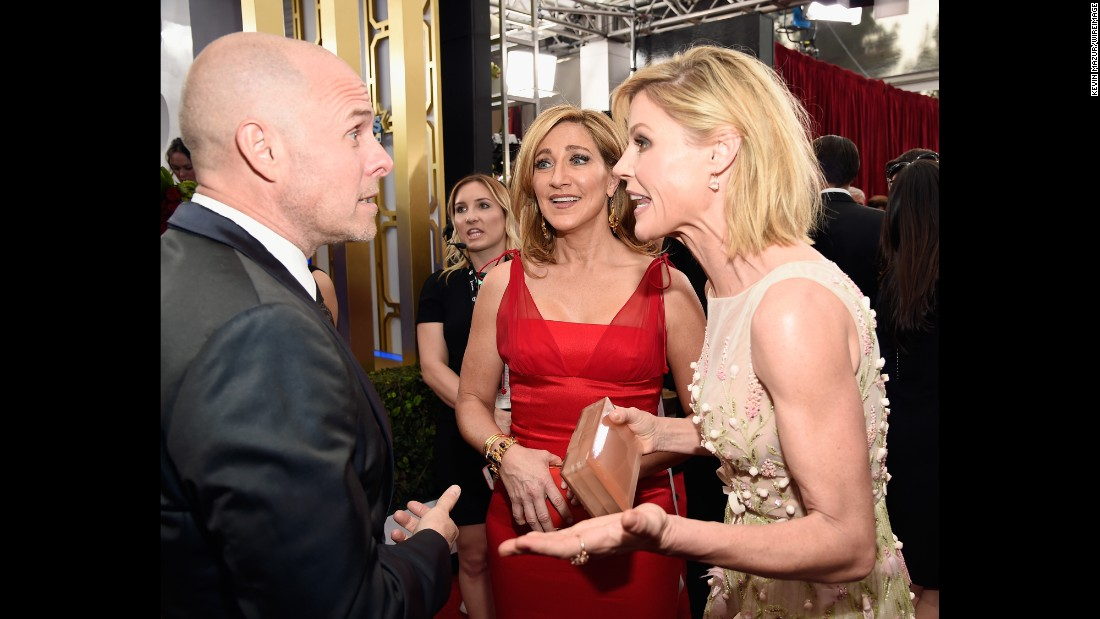 Edie Falco, center, and Julie Bowen