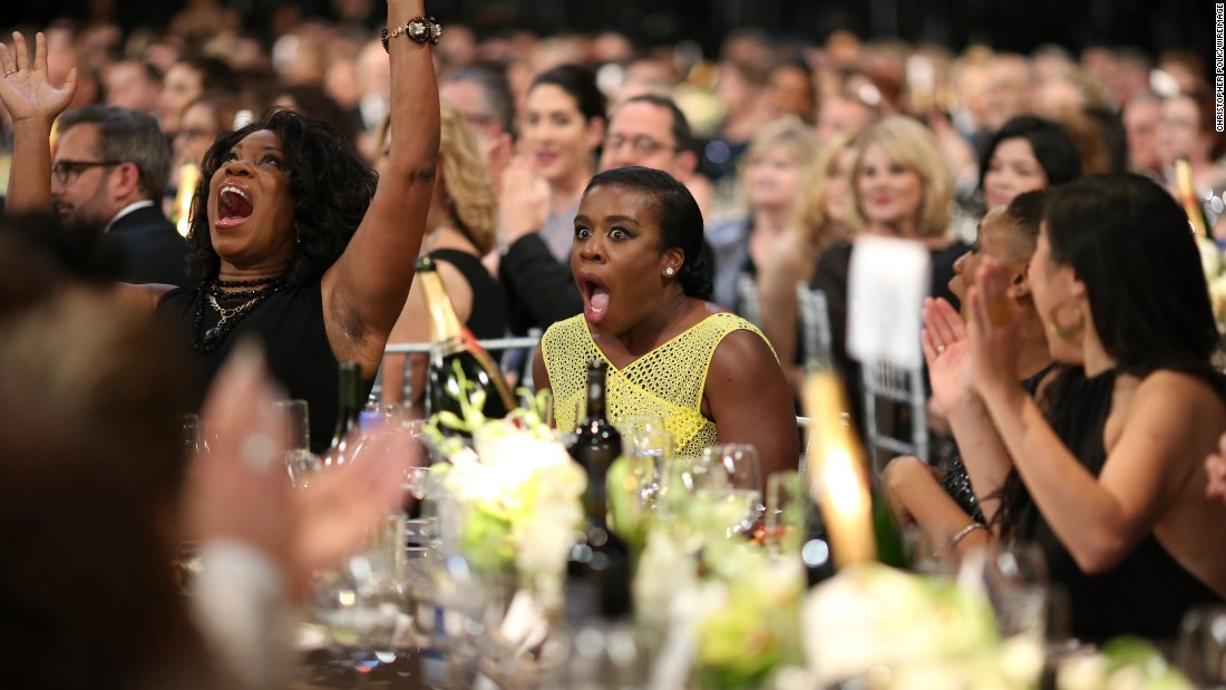 "Uzo Aduba, center, won an award for her role in the comedic series ""Orange Is the New Black."""