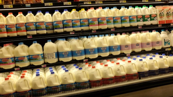 Got milk? If severe weather is predicted you may not see the shelves packed like this.