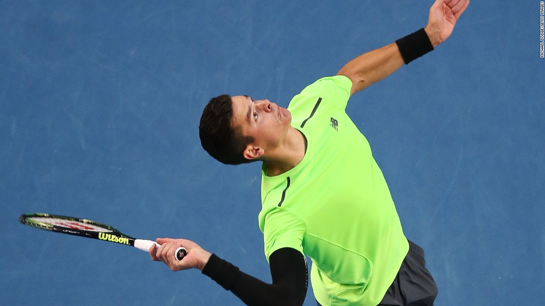 Big-serving Canadian Milos Raonic ended the run of Feliciano Lopez. Raonic prevailed in five sets.